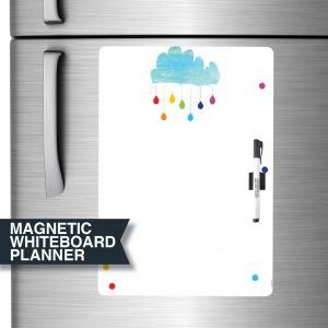 Cloud and Rainbow Magnetic Dry Erase Board Planner A3