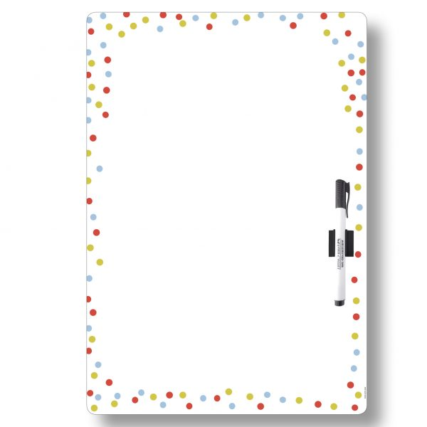 Magnet Whiteboard Planner A3 All-purpose Coloured Dots