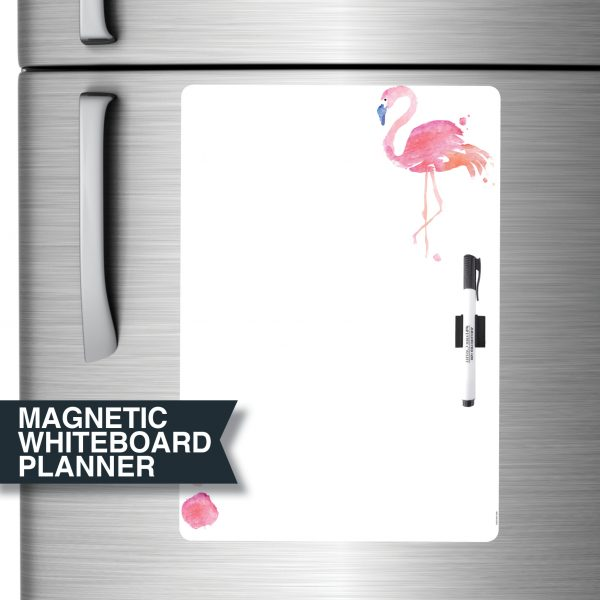 Flamingo All-Purpose Magnet Whiteboard Planner A3
