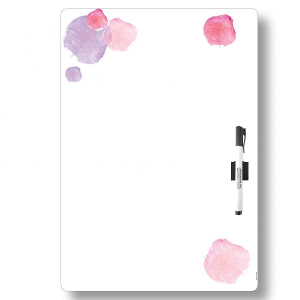 A3 Pink All-purpose Magnetic Whiteboard