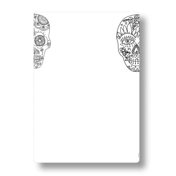 Skull men A3 whiteboard and dry erase planners