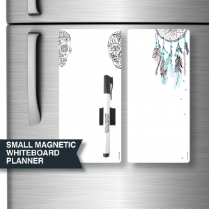 Dreamcatcher and Skull Magnetic Whiteboard planners by Stick with Sam.