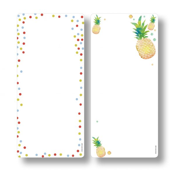 Stick with Sam magnetic dry erase boards. Fun planning with Pineapples and Dots.