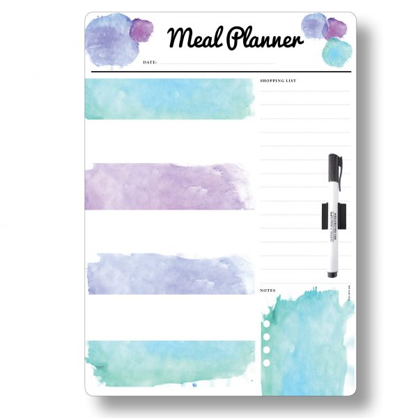 Blue Meal Planner A3 Magnetic Whiteboard by Stick with Sam