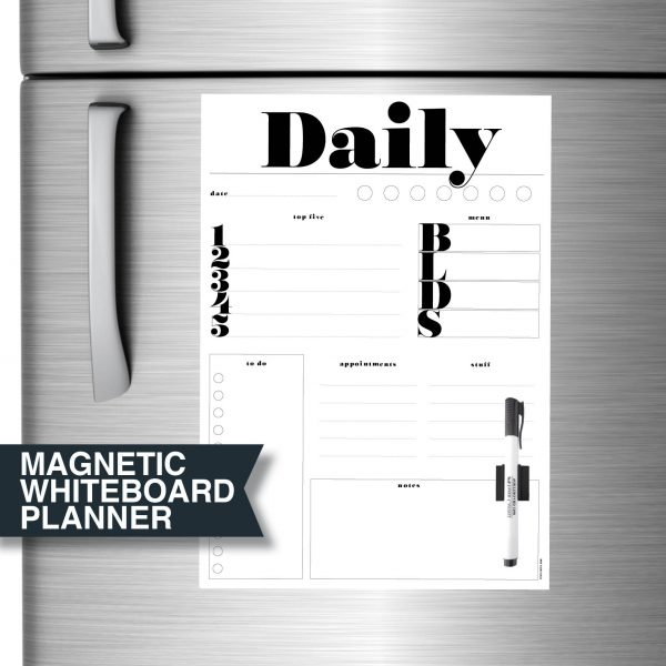 Magnetic Dry Erase Board for the fridge and home by Stick with Sam