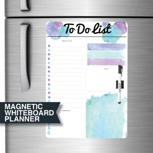 Magnetic Fridge Whiteboard Planner by Stick with Sam