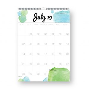 2019 Wall Calendar Planner by Stick with Sam. Large A3 planner. #907.