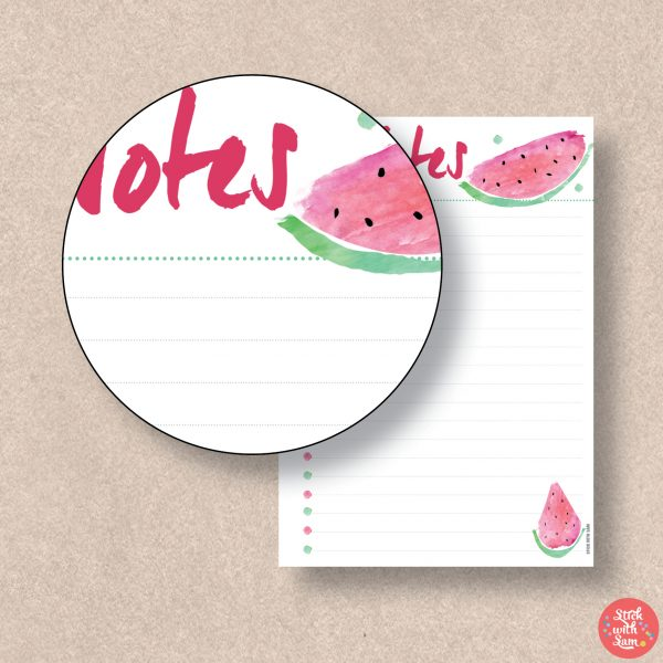 Watermelon Notes Printable Planner by Stick with Sam. A5, A4, Half Letter and Letter sizes. 599.