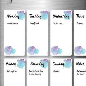 WRITING Magnetic Refrigerator Whiteboards Blue x 8