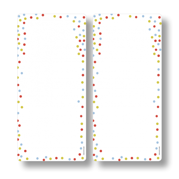 Dots Magnetic Fridge Whiteboards by Stick with Sam. DL size. #DE3025.