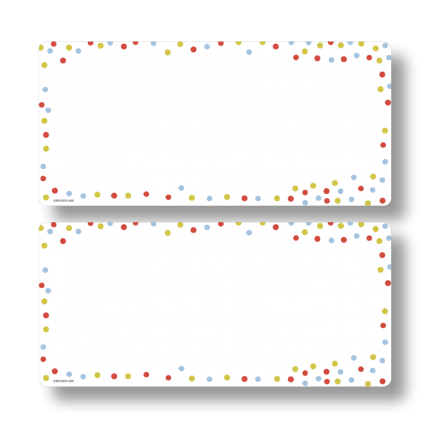 Dots Magnetic Fridge Whiteboards by Stick with Sam. DL size.