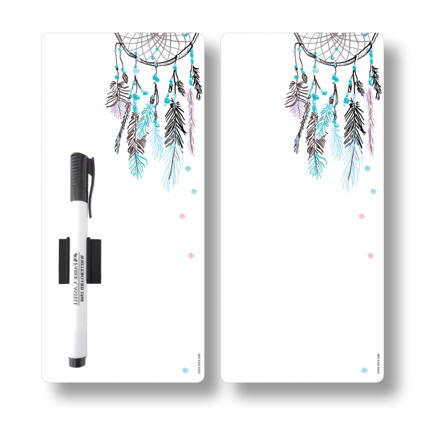 Dreamcatcher Magnetic Fridge Whiteboards by Stick with Sam. DL size. #DE3022.