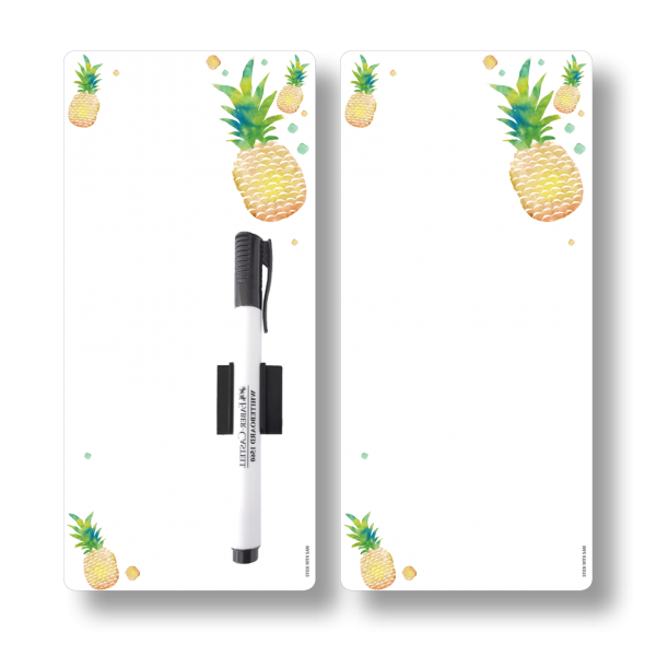 Pineapple Magnetic Fridge Whiteboards by Stick with Sam. DL size. #DE3023.