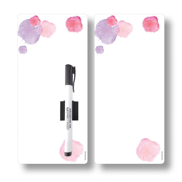 Pink Magnetic Fridge Whiteboards by Stick with Sam. DL size. #DE3021.