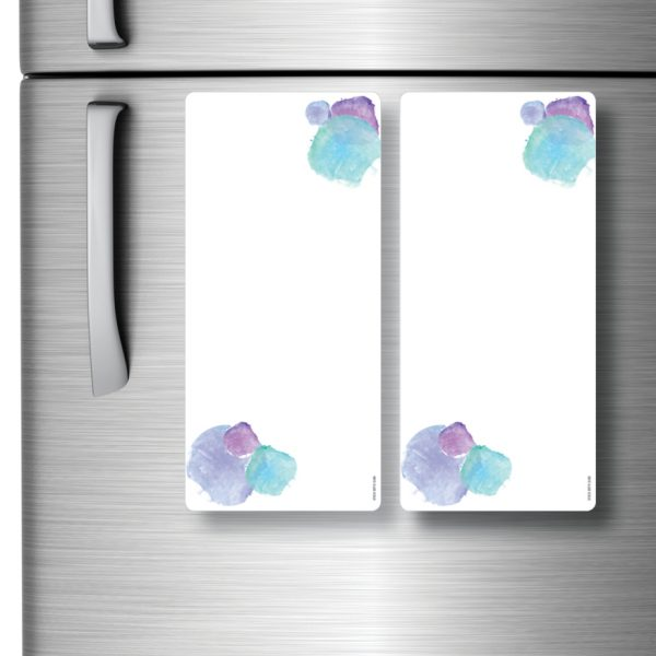 Magnetic Refrigerator Whiteboards Blue x 2