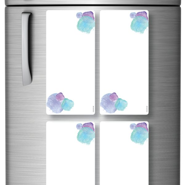 Magnetic Refrigerator Whiteboards Blue x 4
