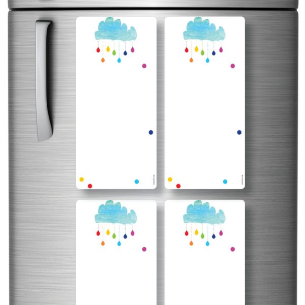 Magnetic Refrigerator Whiteboards Clouds x 4