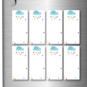Raincloud magnetic whiteboard planner x 8 Raincloud DE-3026