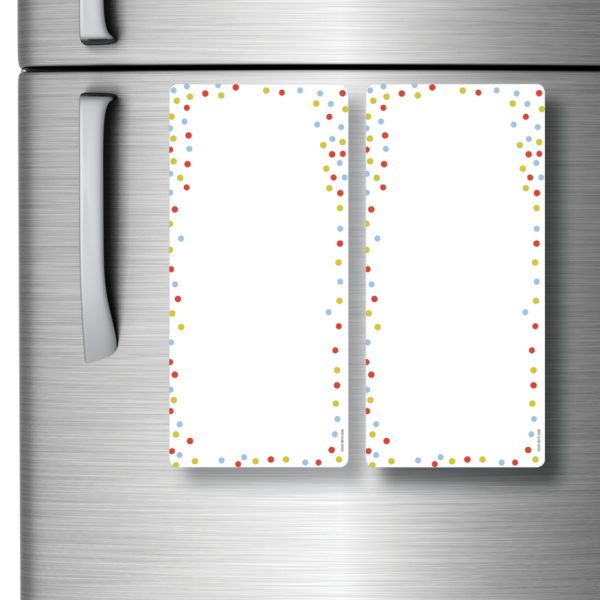 Magnetic Refrigerator Whiteboards Dots x 2
