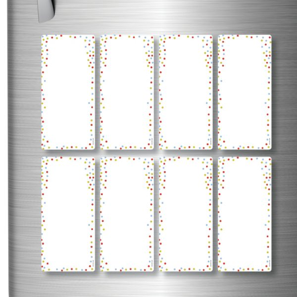 Magnetic Refrigerator Whiteboards Dots x 8