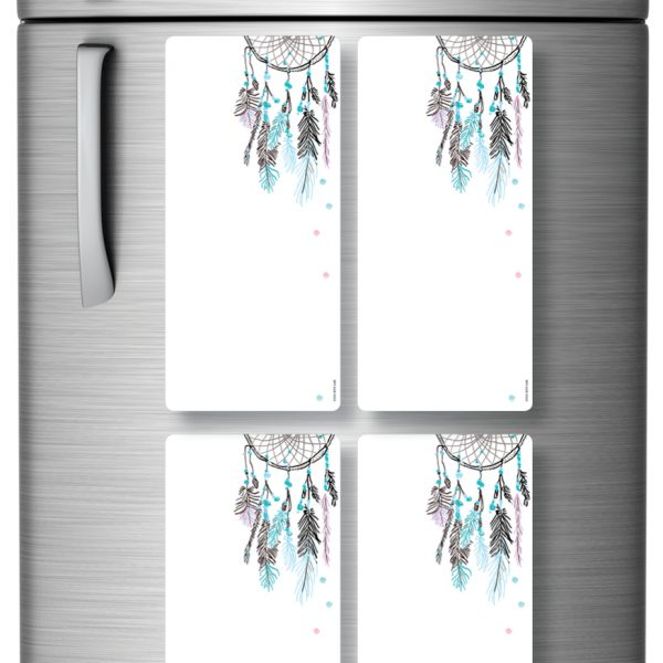 Magnetic Refrigerator Whiteboards Dreamcatcher x 4