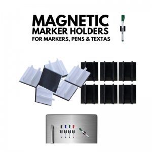 Magnetic Marker Holder for whiteboard markers, textas, and pens