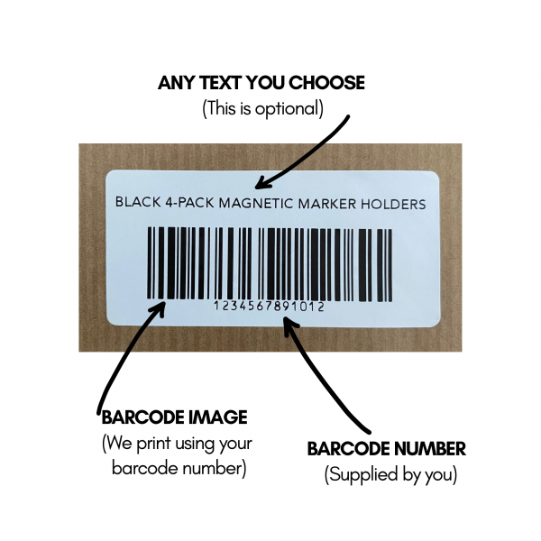 Barcode label sticker from Caydelle